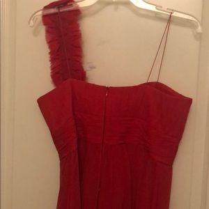 Rickie Freeman for Teri Jon Dresses - Pristine silk/chiffon spaghetti strap red dress